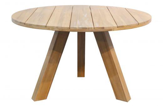 Abby ronde tafel hout naturel Ø129cm