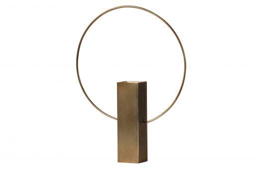 Ring vaas metaal antique brass 40cm