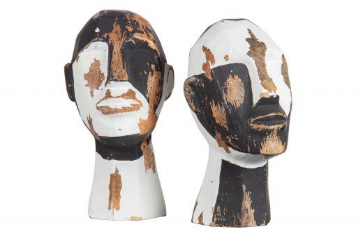 Set v 2 - kenji deco hout zwart/wit
