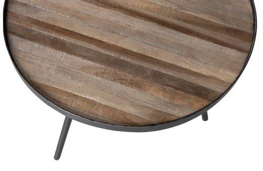 Set v 3 - lize bijzettafels hout/metaal