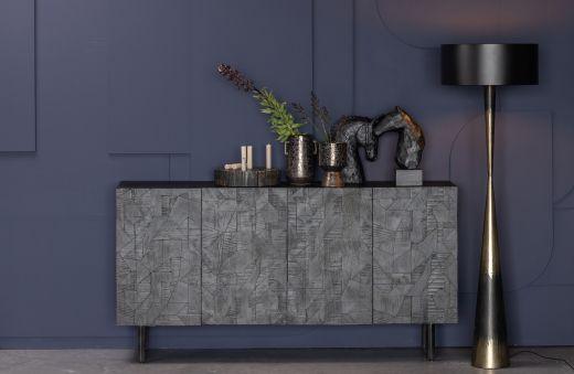 Counter dressoir hout zwart