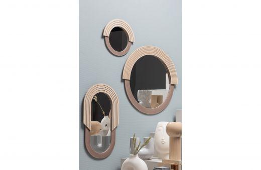 Hailey spiegel rond 29cm naturel