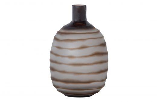 Zebra vaas glas bruin