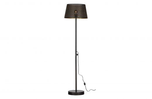 Kars vloerlamp metaal black/antique brass