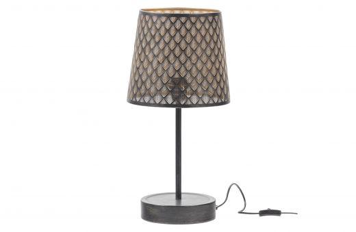 Kars tafellamp metaal black/antique brass