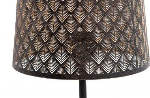 Kars tafellamp metaal zwart/antique brass