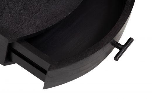 Boudoir wandkast hout zwart