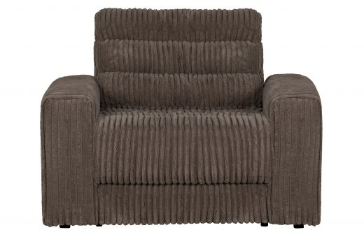 Date fauteuil grove ribstof mud