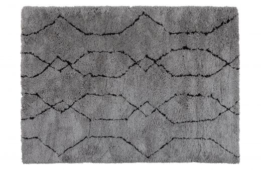 NovÉ vloerkleed lichtgrijs/zwart 170x240cm