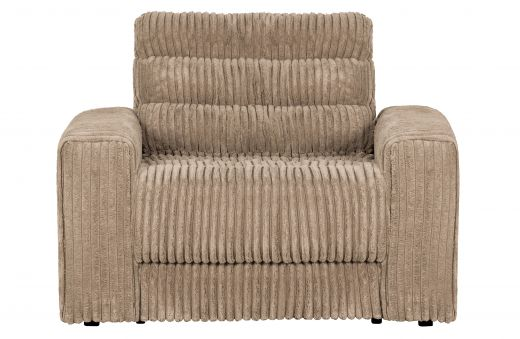 Date fauteuil grove ribstof travertin