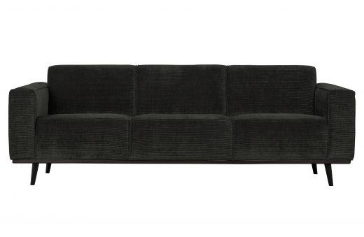 Statement 3-zits bank 230 cm brede platte rib graphite