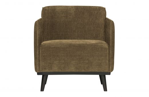 Statement fauteuil met arm brede platte rib rock
