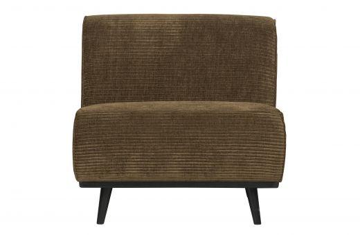 Statement fauteuil brede platte rib rock