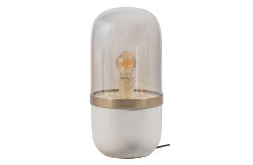 Flora tafellamp metaal glas grijs