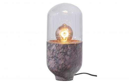 Asel tafellamp marmer glas grijs bruin