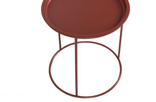 Ivar bijzettafel medium 40cm brick red