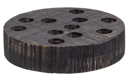 Blaze kaarsenstandaard xl mango hout vintage bruin