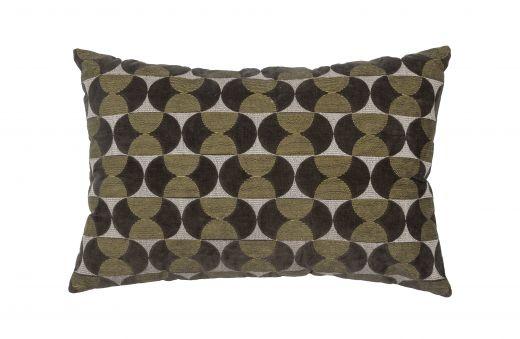 Pam kussen velvet/borduur cast iron 40x60cm