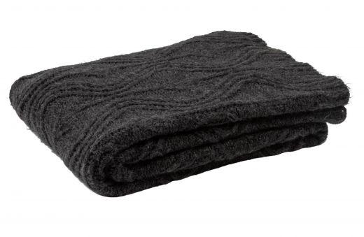 Drake plaid chunky knit cast iron 130x170