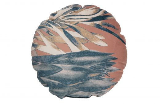 Bouquet kussen printed velvet melon Ø45cm