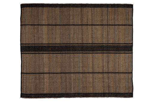 Kamil vloerkleed jute brede streep naturel/zwart 170x240cm