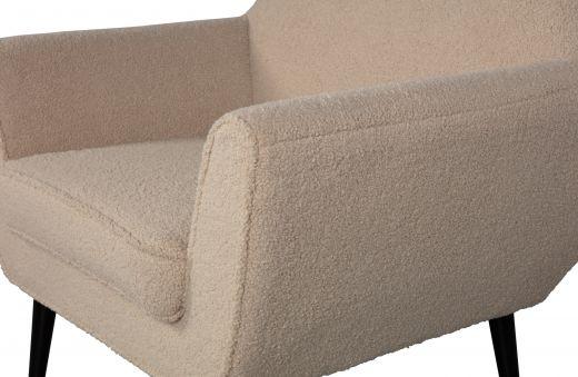 Rocco fauteuil teddy sand