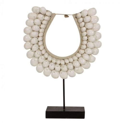 Necklace shell stand white Novo