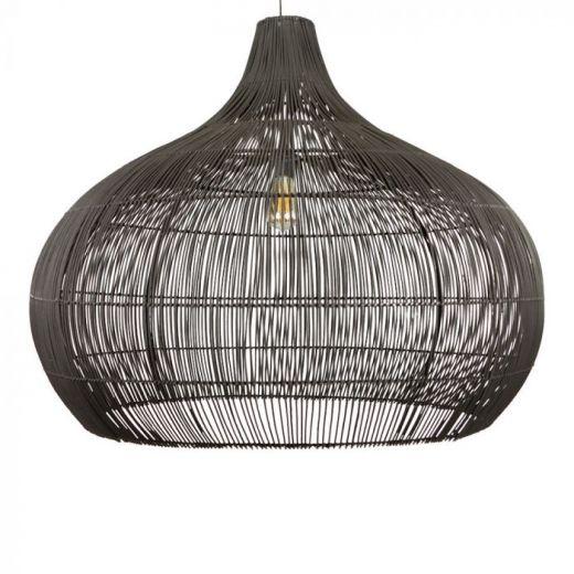 Hanglamp rotan zwart Max XL