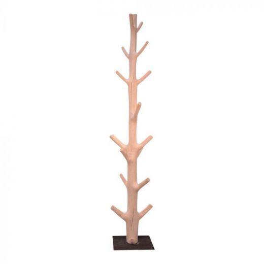 Coat rack tree trunk w.foot Luca