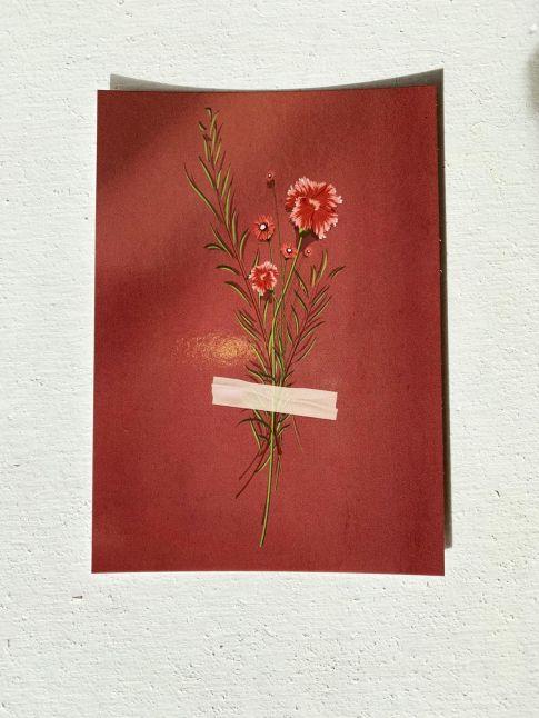 PAND LABEL KAART A6 | bouquet flowers