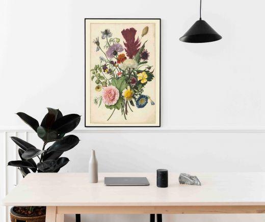 Boeket bloemen, anoniem, 1680 Interieur posters | A3