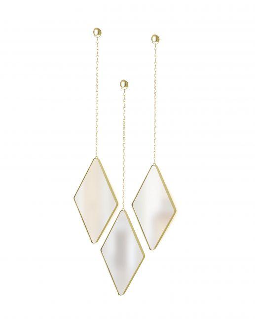 Umbra Dima-spiegels, set van 3 gold