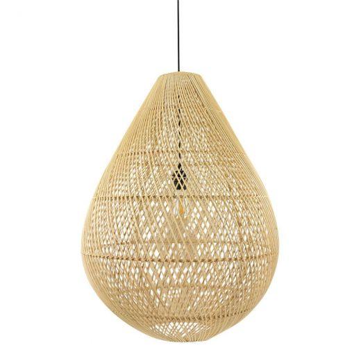 Hanglamp rotan zwart druppel natural