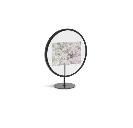 Umbra Infinity Round Picture Frame for 4x6 Photos, Black