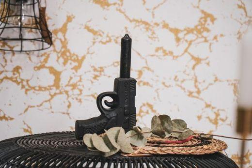 Gun kandelaar zwart