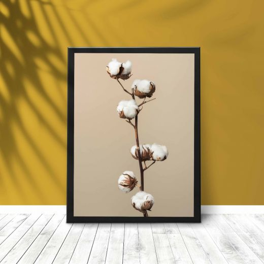 Dried fluffy cotton Interieur posters | A3