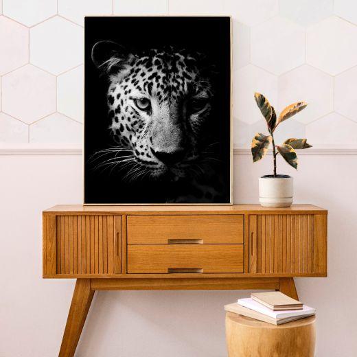 LEOPARD BLACK Interieur posters | 50x70