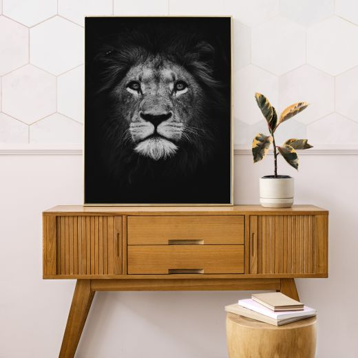 Lion BLACK Interieur posters | 50x70