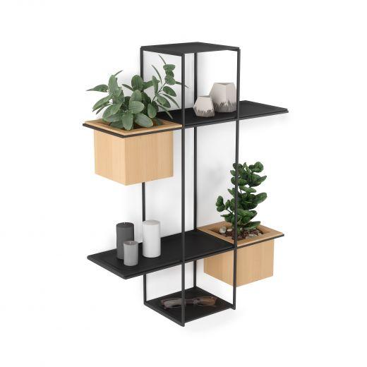 Umbra Cubist Floating Multi Shelf with Built-in Succulent Planter