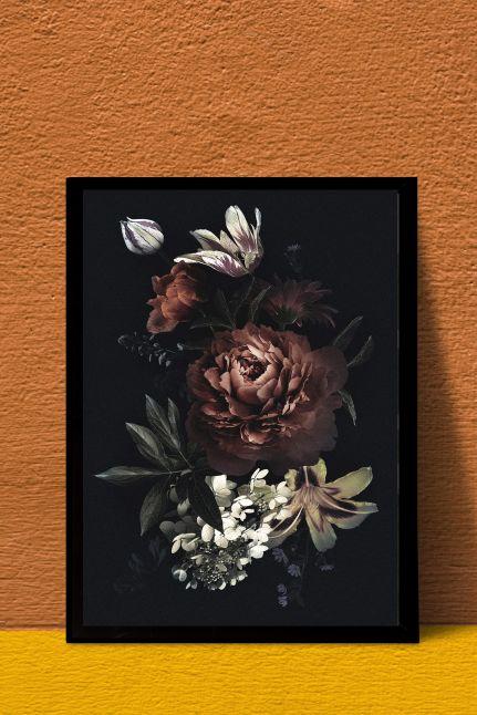 VINTAGE FLOWER INTERIEUR KAART | A4