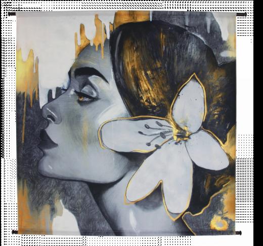 Wanddoek Woman Flower - VELVET