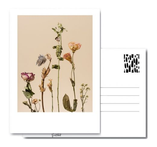 PAND LABEL KAART A6 | Dried flowers