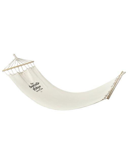 Hangmat met tekst 'Mijn favoriete plekje is in de zon