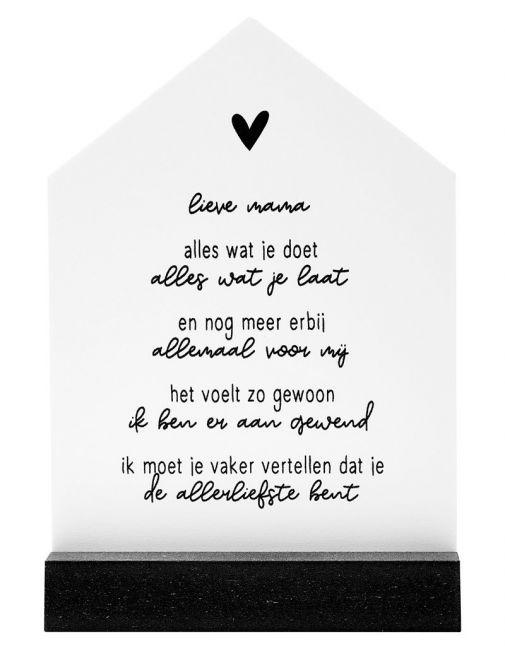 ZOEDT Huisje in cadeauverpakking - Gedicht voor de allerliefste moeder