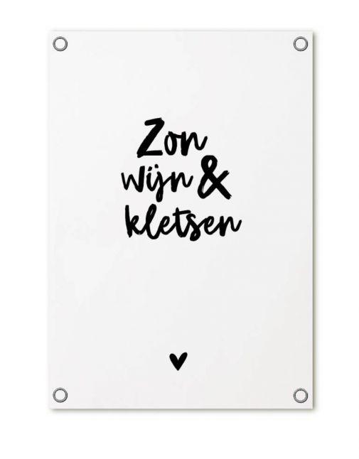 Tuin poster van Zoedt Hart wit